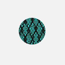 Amazing glowing circles Mini Button