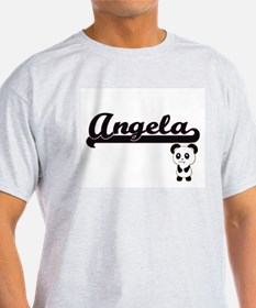 Angela Classic Retro Name Design with Pand T-Shirt