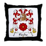 Fleche Family Crest Throw Pillow