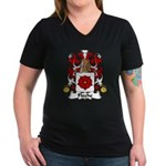 Fleche Family Crest Women's V-Neck Dark T-Shirt