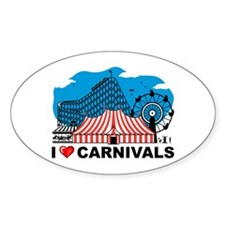 I Love Carnival Oval Decal