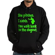 SHE PITCHES, I CATCH Hoodie