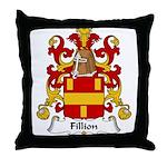 Fillion Family Crest Throw Pillow
