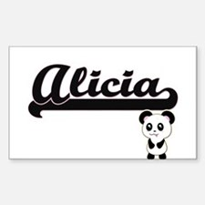 Alicia Classic Retro Name Design with Pand Decal