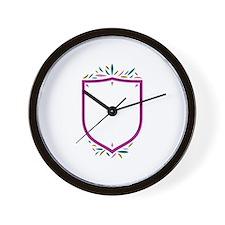 Feather Shield Sigil Wall Clock