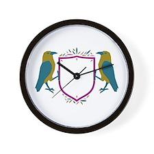 Raven Shield Sigil Wall Clock