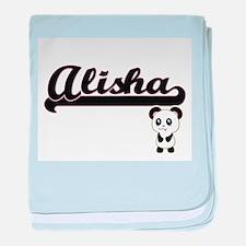 Alisha Classic Retro Name Design with baby blanket