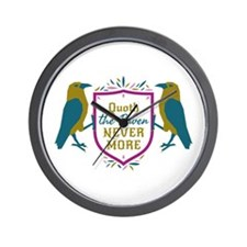 Quoth the Raven Nevermore Shield Sigil Wall Clock