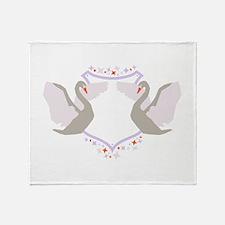 Swan Shield Sigil Throw Blanket