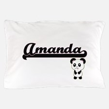 Amanda Classic Retro Name Design with Pillow Case