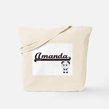 Amanda Classic Retro Name Design with Pan Tote Bag
