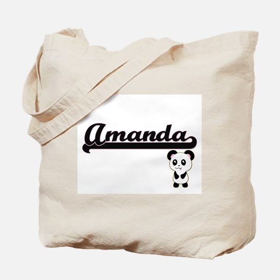 Amanda Classic Retro Name Design with Pan Tote Bag