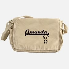 Amanda Classic Retro Name Design wit Messenger Bag