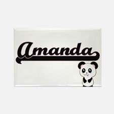 Amanda Classic Retro Name Design with Pand Magnets