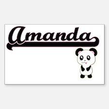 Amanda Classic Retro Name Design with Pand Decal