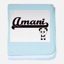 Amani Classic Retro Name Design with baby blanket