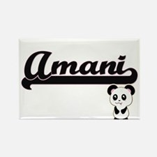 Amani Classic Retro Name Design with Panda Magnets