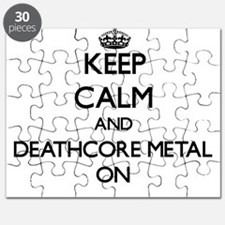 Keep Calm and Deathcore Metal ON Puzzle