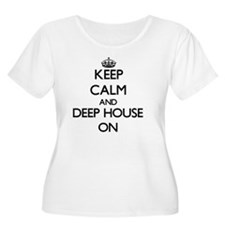 Keep Calm and Deep House ON Plus Size T-Shirt