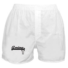 Amina Classic Retro Name Design with Boxer Shorts