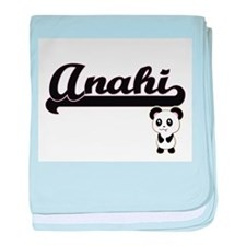 Anahi Classic Retro Name Design with baby blanket