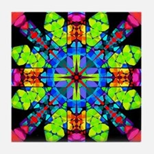 Budding Magic Mandala Tile Coaster