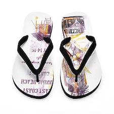 Cool Kombi surf design Flip Flops