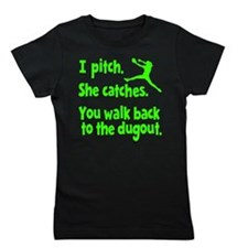 I PITCH, SHE CATCHERS Girl's Tee