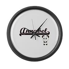 Annabel Classic Retro Name Design Large Wall Clock