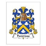 Favereau Family Crest Small Poster