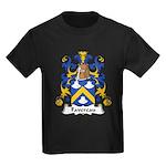 Favereau Family Crest Kids Dark T-Shirt