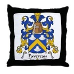 Favereau Family Crest Throw Pillow
