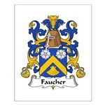 Faucher Family Crest Small Poster