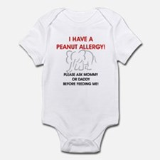 Peanut Allergy Don't Feed Me Infant Bodysuit