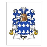 Even Family Crest Small Poster