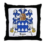 Even Family Crest Throw Pillow