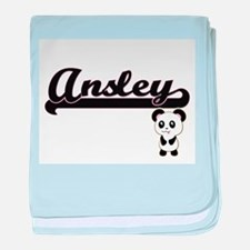 Ansley Classic Retro Name Design with baby blanket