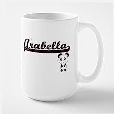 Arabella Classic Retro Name Design with Panda Mugs