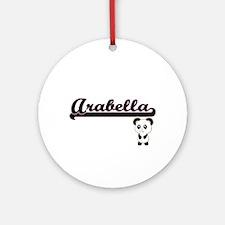 Arabella Classic Retro Name Desig Ornament (Round)