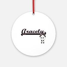 Aracely Classic Retro Name Design Ornament (Round)