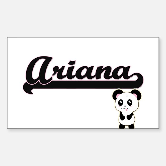 Ariana Classic Retro Name Design with Pand Decal