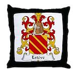 Esteve Family Crest Throw Pillow