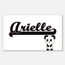 Arielle Classic Retro Name Design with Pan Decal