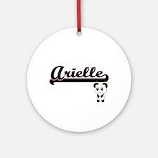 Arielle Classic Retro Name Design Ornament (Round)