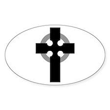 Cross Oval Decal