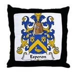 Esperon Family Crest  Throw Pillow