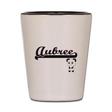 Aubree Classic Retro Name Design with P Shot Glass