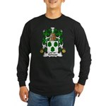 Esneau Family Crest Long Sleeve Dark T-Shirt