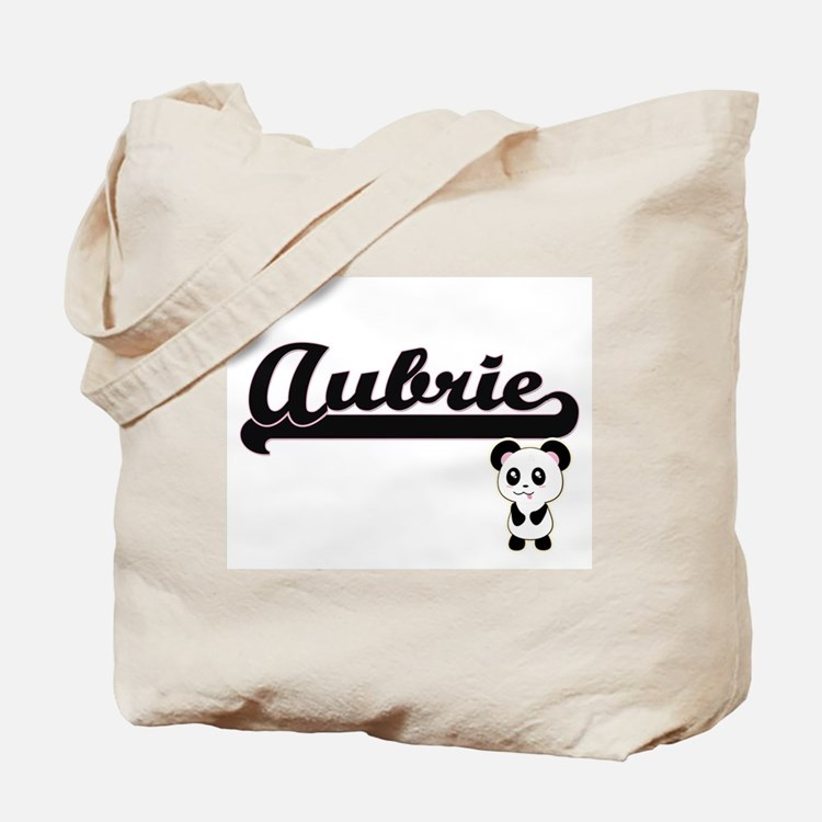 Aubrie Classic Retro Name Design with Pan Tote Bag