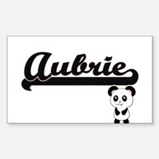 Aubrie Classic Retro Name Design with Pand Decal